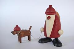 サンタと犬