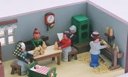 グンターフラット作「おもちゃ職人の部屋」