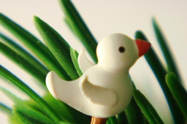 オリジナル小鳥・白