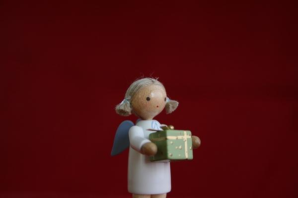 天使とプレゼント(グリーン)