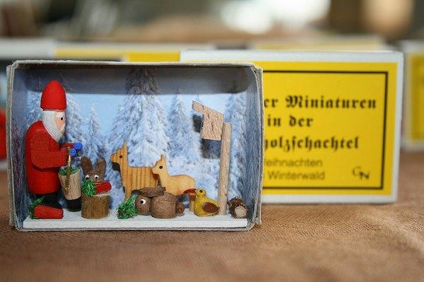 マッチ箱・冬の森のクリスマス