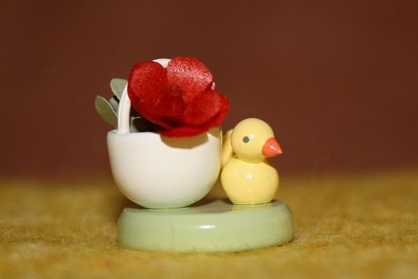 花かごと小鳥(赤)