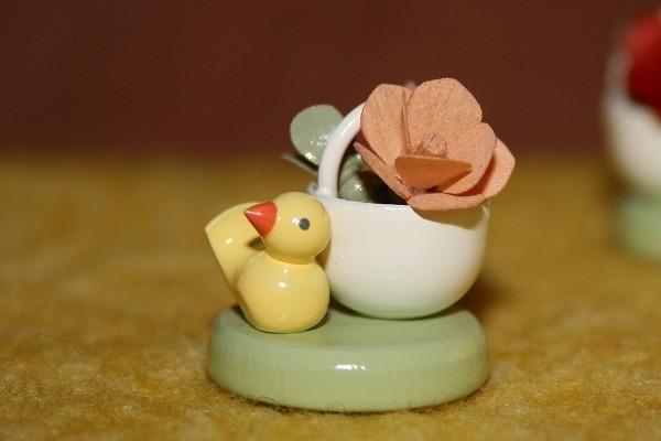花かごと小鳥(ピンク)