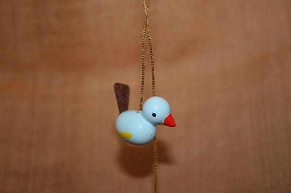 小鳥のペア赤・水色