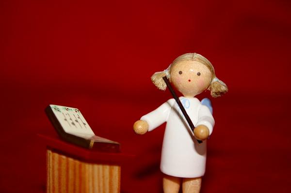 天使と譜面台