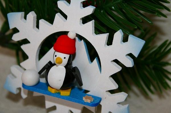 オーナメント 雪とペンギン