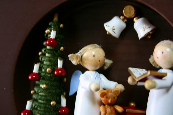 壁掛け 天使とクリスマスの鐘(スタンド付)