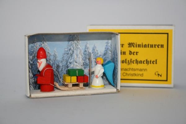 マッチ箱 サンタと天使