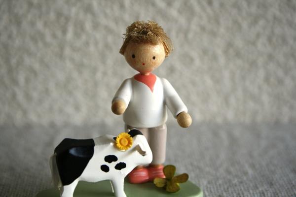 牛と男の子