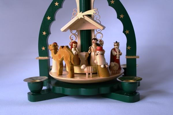 クリスマスピラミッド 聖誕 グリーン