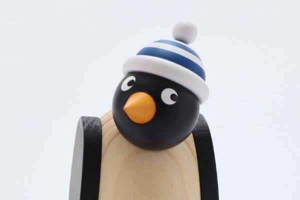 ペンギン 青シマ帽子