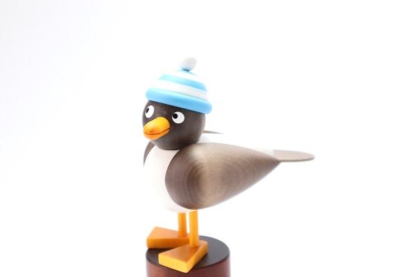 カモメ茶 水色帽子
