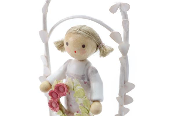 5月の女の子 お花のリース ピンク